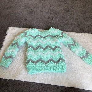 Cat & Jack chevron popcorn fuzzy sweater